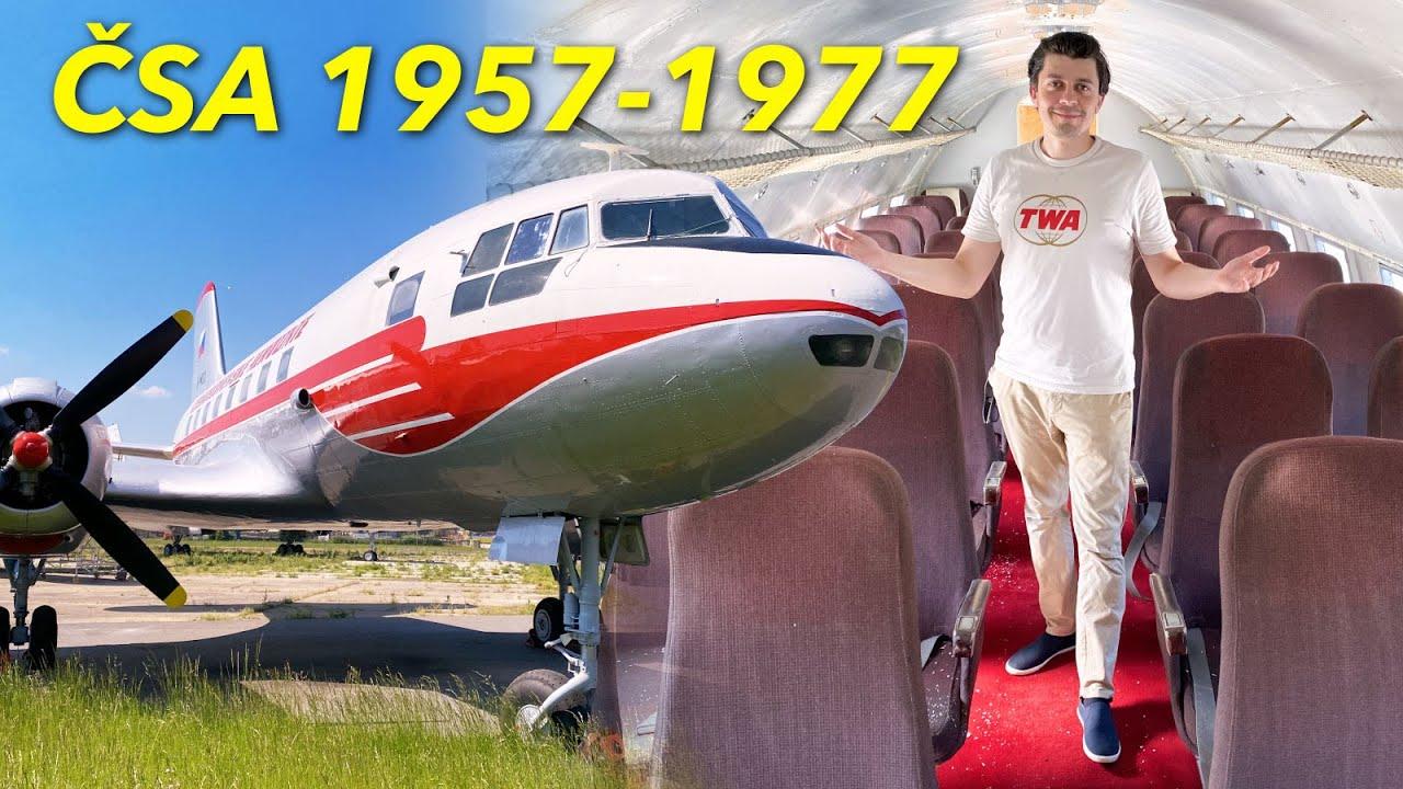 Prohlídka legendární Avia IL-14 ČSA z roku 1958 - Letecké muzeum Kbely
