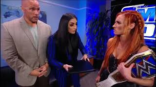 Becky Lynch Backstage SmackDown 10 8 2021