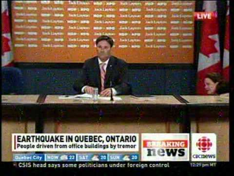Ottawa Earthquake Interrupts Press Conference
