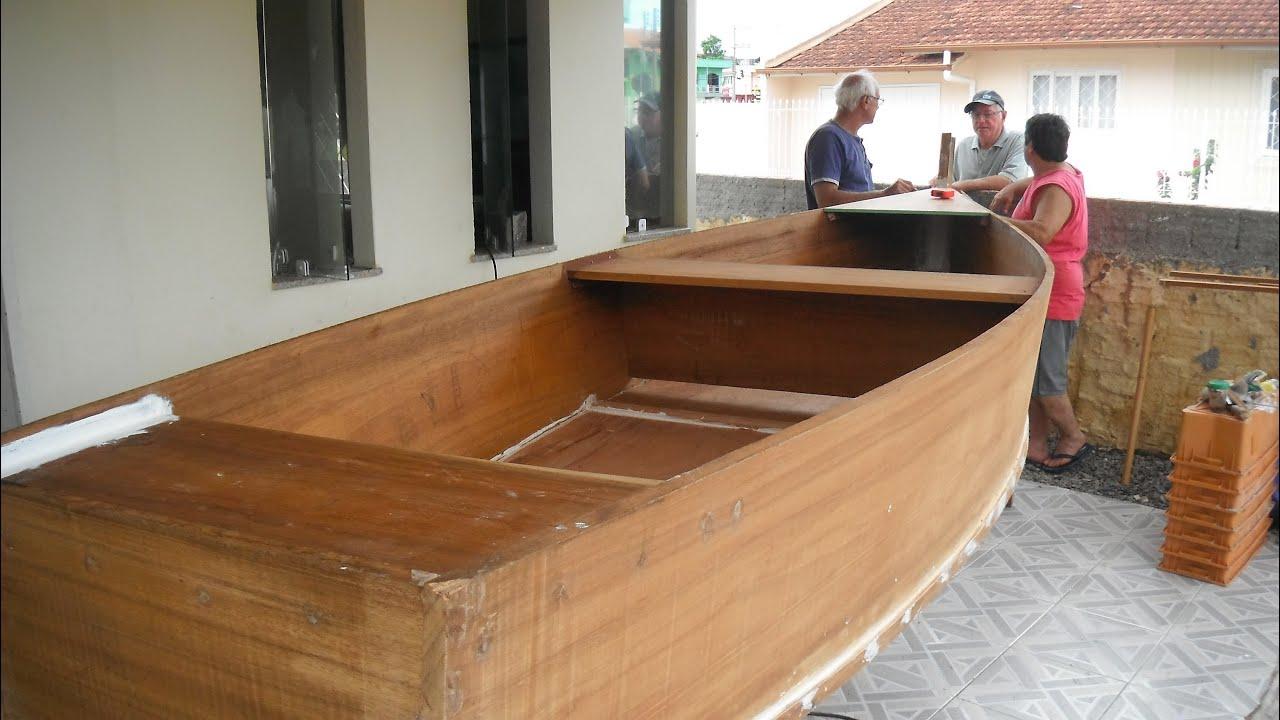 construção do bote de madeira do paulo   #724624 3000x1689