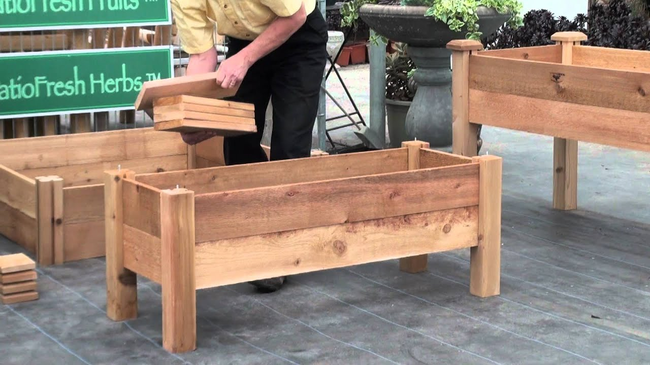 Elevated Garden Beds On Legs Plans How to build a simple elevated garden bed with Louis Damm ...
