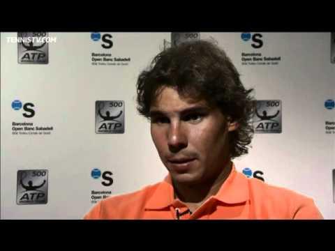 Rafael Nadal 2012 Barcelona Friday Spanish Interview Youtube