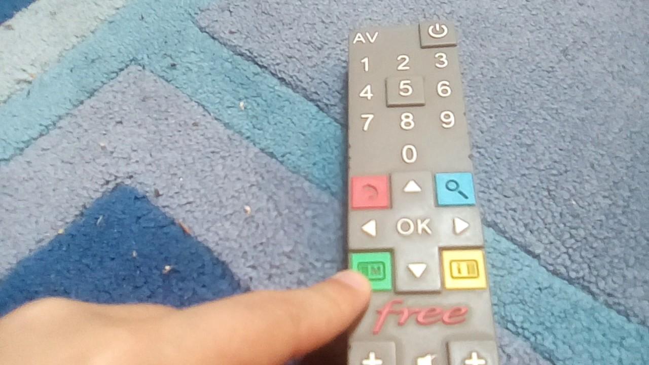 comment utiliser les lettres sur la telecommande free