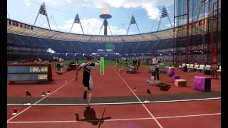 london 2012  javelin throw world record 100 60 meteres