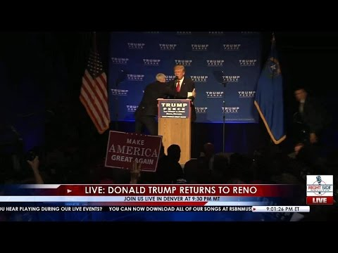 Secret Service Swarms in to Protect Donald Trump After Scare in Reno 11/5/16