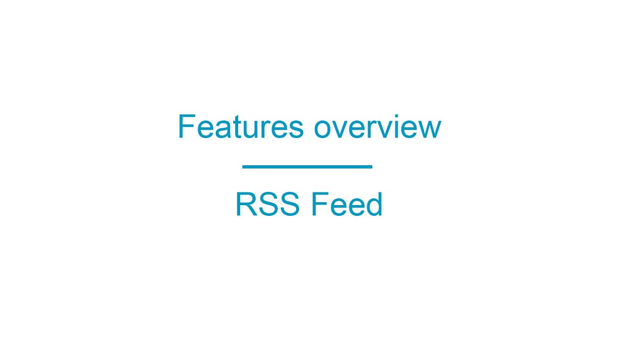 AppsBuilder.PRO Features overview RSS Feed - YouTube