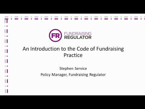 An introduction to the Code of Fundraising Practice
