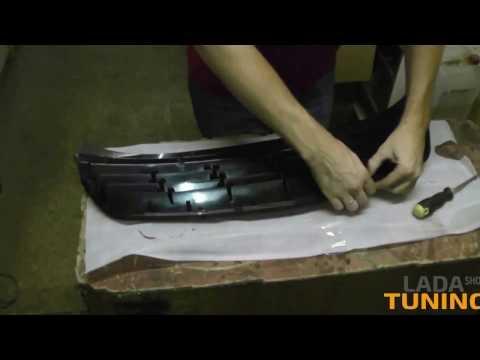 Как снять решетку радиатора приора 2