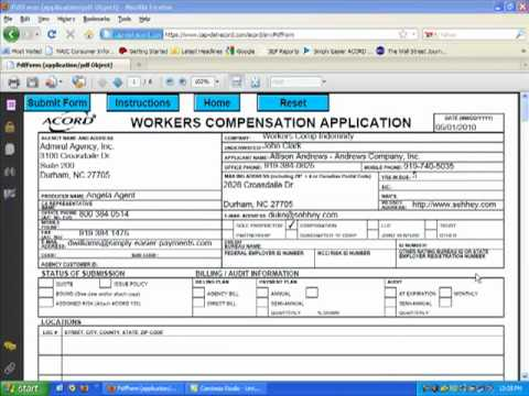 Complete Acord Forms Applications Using Cap Dat Acord.Mp4 - Youtube