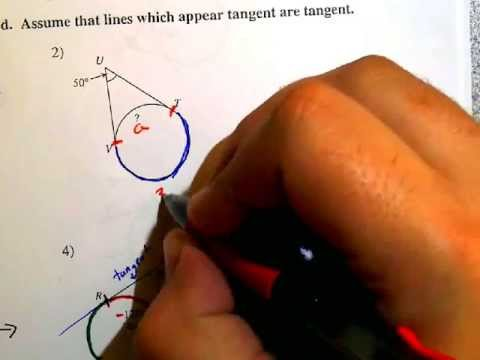 Secant Tangent And Tangent Tangent Angles Pg 1 Youtube