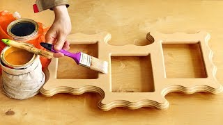 Нанесение морилки и лака на тройную рамку, stain and varnish on unusual frame