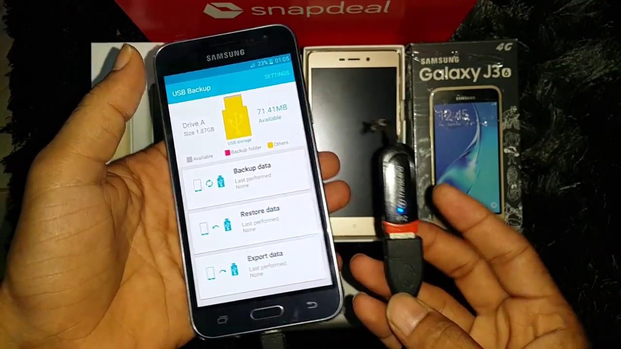 Samsung Galaxy J3 2016 Usb Otg Testing Online Youtube