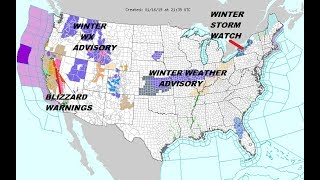TWO STORMS IMPACTING THE US THROUGH SUNDAY BITTER COLD FOLLOWS IN THE EAST thumbnail
