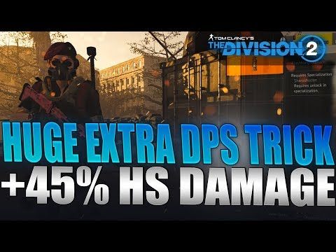 The Division 2 - Crazy DPS Increase Trick Guide! 45% Increased Damage