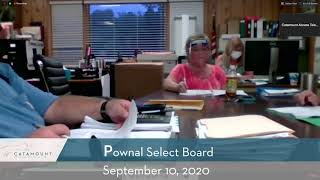 Pownal Select Board // 09/10/20