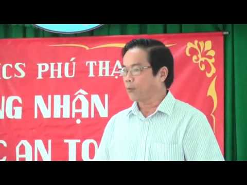 Lễ công nhận trường THCS Nam Định an toàn về ANTT năm 2016