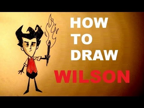 How To Draw Wilson Scientist - Don't Starve | Simple Drawing Lession