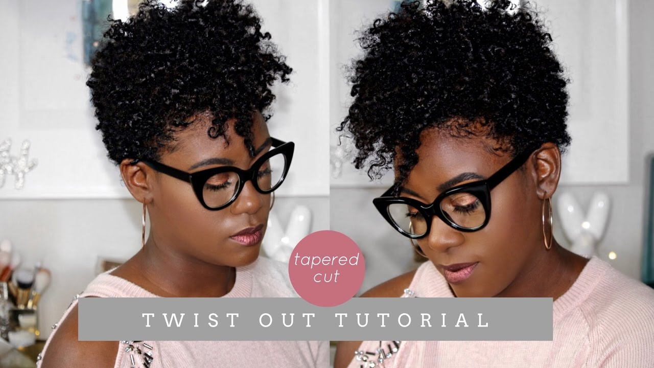 Natural Hair Tapered Cut Defined Twist Out Tutorial