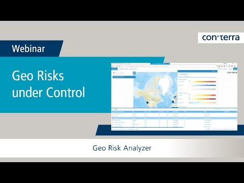 Webinar: Geo Risks under Control | Geo Risk Analyzer