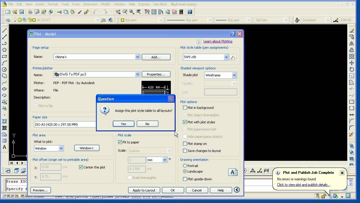 auto dwg to pdf converter full español