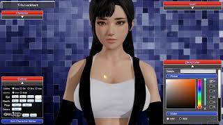 Honey Select: Tifa Lockhart From Final Fantasy Character Showcase + Gameplay!