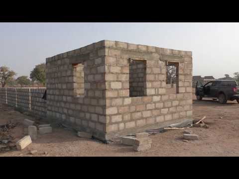 building in ghana - 360m fencewall & security house