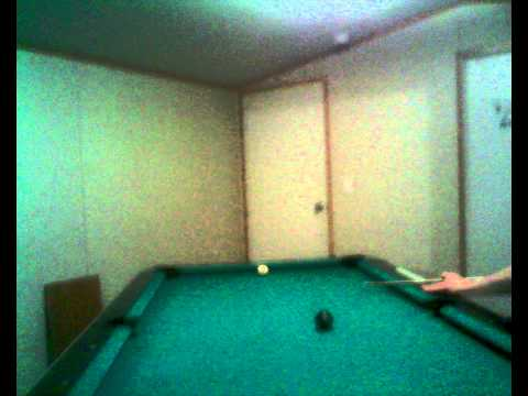 Shane Crisp shooting pool