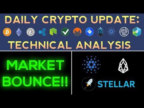 MARKET BOUNCE: CARDANO, EOS, STELLAR LUMENS (1/12/18) Daily Update + Technical Analysis