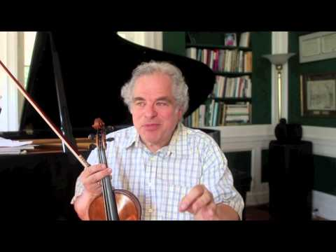 Itzhak Perlman talks about the Beethoven Violin Concerto