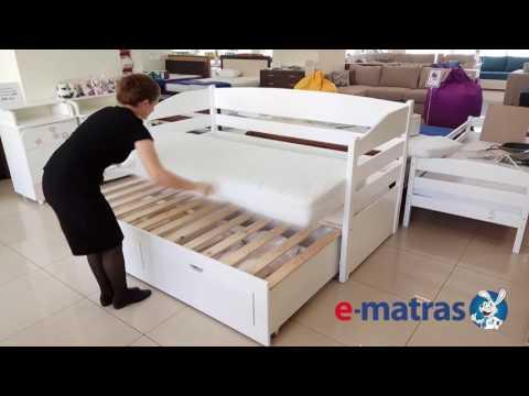 Подростковая кровать с выдвижным спальным местом и 2-мя ящиками для белья