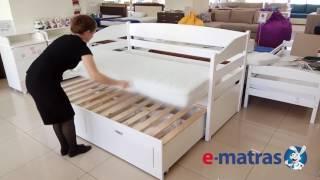 видео Кровать для двоих детей выдвижная (112 фото): детская раздвижная или выкатная модель с ящиками