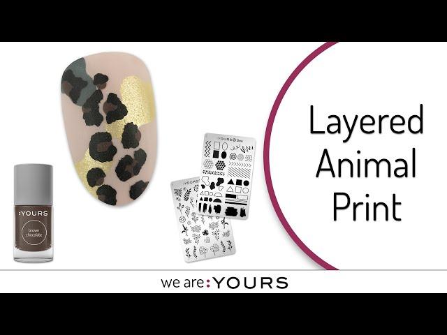 STAMPING NAIL ART l LAYERED ANIMAL PRINT