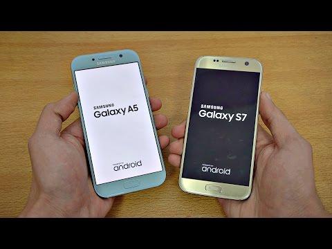 Samsung Galaxy A5 (2017) vs Galaxy S7 - Speed Test! (4K)