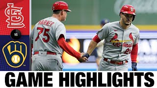 Cardinals vs. Brewers Game Highlights (9/20/21) | MLB Highlights