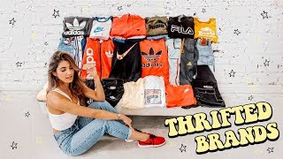 UNREAL 50+ ITEM THRIFT HAUL ☆ LEVIS, TOMMY, ADIDAS, NIKE, FILA (try on)