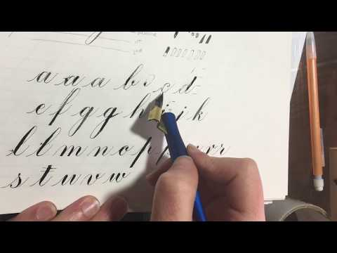 Copperplate Calligraphy Basics (Engrosser's Script)