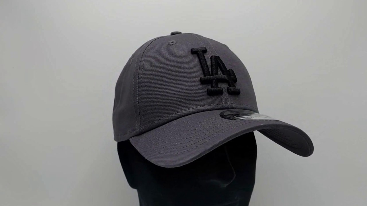New Era 9Forty League Essential (940) Los Angeles Dodgers Graphite Black -  €25 9addff262b5