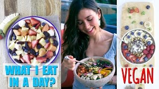 WHAT I EAT IN A DAY! Vegan & Healthy Breakfast, Lunch and Dinn…