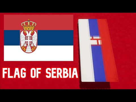 How To Make The FLAG OF SERBIA In Minecraft!