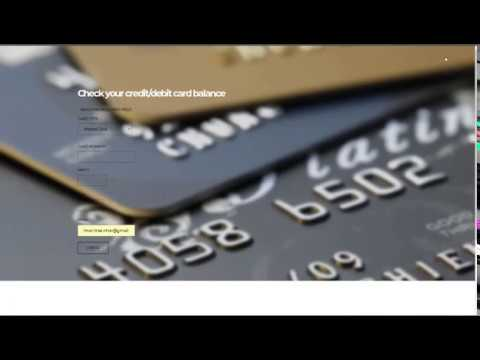 How To Check Your Visa Card Balance ( WORKING 100% )