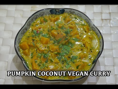🇬🇧🇮🇳🍅 🍆 Pumpkin Coconut Milk Indian Curry Recipe - Vegan