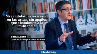 """Patxi López: """"Mi candidatura va a estar en las urnas, sin apaños que abandonen a la militancia"""""""