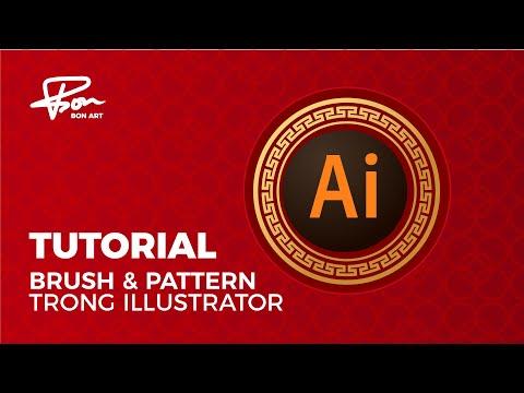 Tuttorial illustrator [ hướng dẫn tạo Brush và pattern trong AI ] | BonART