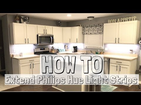 Philips Hue Lightstrip Extension Hack for Under Kitchen Cabinet Lighting