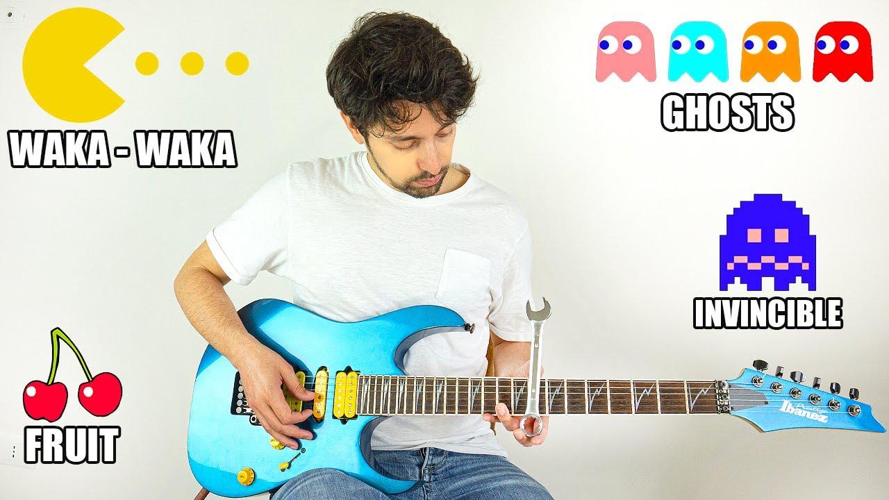 PAC-MAN sounds on guitar