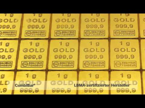 Gold CombiBar®, 50x1g Goldbarren in Tafelform