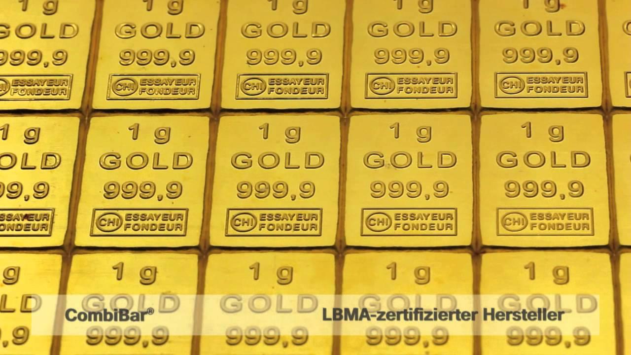 Gold CombiBar®, 50x1g Goldbarren in Tafelform