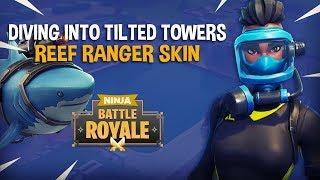 Bucear en las torres inclinadas con la nueva piel de ranger de arrecife !! - Fortnite Battle Royale Juego - Ninja