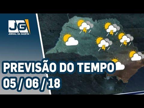 Previsão do Tempo - 05/06/2018