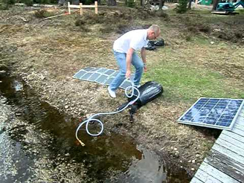 Portable solar power water purification system by SolarWave (new cleantech product)